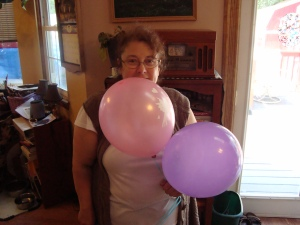 me and balloons