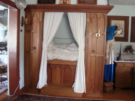 bed in a closet