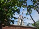 Pella Iowa Dutch Wind mill and mill stone