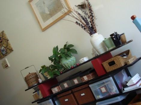 brick and board shelf